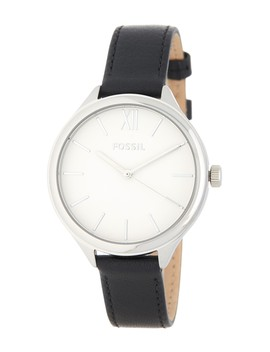 Men's Suitor Leather Strap Watch, 36mm by Fossil