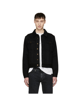 Black Worn Denim Jacket by Saint Laurent