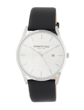 Men's Leather Strap Watch by Kenneth Cole New York