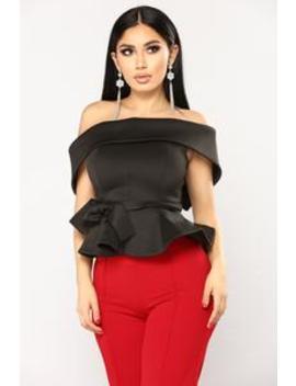 Cordova Peplum Top   Black by Fashion Nova