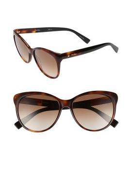 Cosy 56mm Gradient Cat Eye Sunglasses by Max Mara