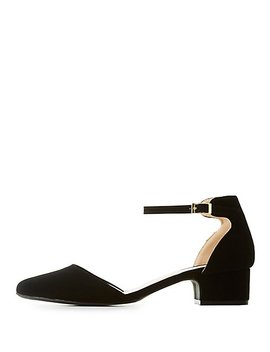 Qupid Ankle Strap D'orsay Pumps by Charlotte Russe