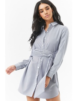 Robe Chemise Rayée by F21 Contemporary