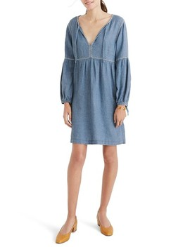 Indigo Peasant Dress by Madewell