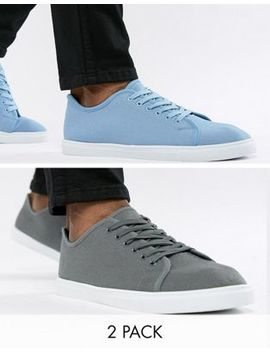 Truffle Collection 2 Pack Lace Up Sneakers by Shoes