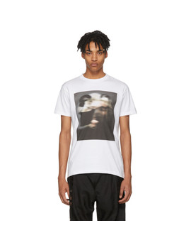 White Jfk Graphic T Shirt by N.Hoolywood