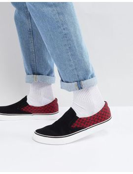 Brave Soul Checker Slip On Sneakers by Asos Brand
