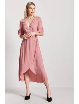 Ruffle Wrap Front Dress by F21 Contemporary
