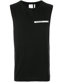 Logo Tank Tophome Men Clothing T Shirts by Helmut Lang