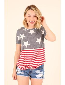 Star Spangled Banner Tee  Red, White And Blue by Hazel & Olive