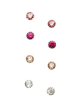 Faux Gem Solitaire Stud Earring Set by Forever 21