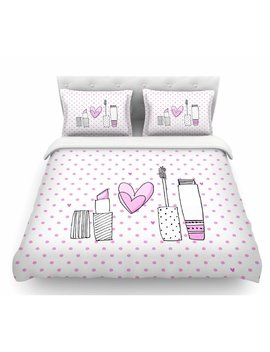 East Urban Home Girls Luv By Ma Jo Bv Makeup Featherweight Duvet Cover & Reviews by East Urban Home