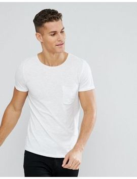 Tom Tailor Crew Neck T Shirt With Raw Edge by Tom Tailor