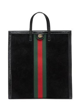 Ophidia House Web Suede Tote by Gucci