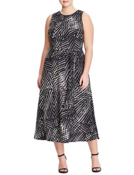 Stripe Midi Dress by Lauren Ralph Lauren