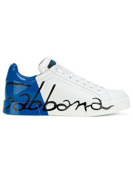 Logo Print Sneakershome Women Shoes Trainers by Dolce & Gabbana