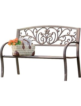 Plow & Hearth Blooming Iron Garden Bench & Reviews by Plow & Hearth