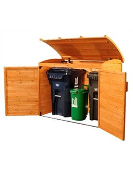 Leisure Season Horizontal Refuse Storage Shed, Solid Wood, Decay Resistant by Leisure Season
