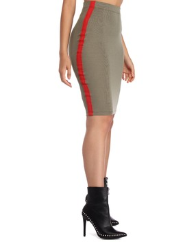 Basic Ribbed Pencil Skirt by Windsor