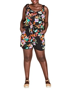 Molokai Floral Romper by City Chic
