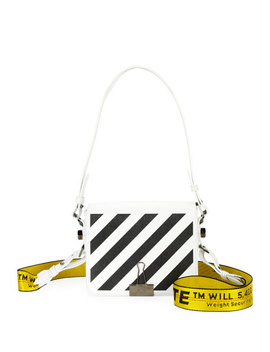 Floral Leather Flap Shoulder Bag by Off White