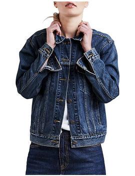 Ex Boyfriend Stoop Culture Denim Trucker Jacket by Levi's