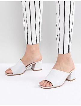Asos Design Tatiana Leather Heeled Sandals by Asos Design