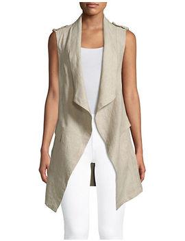 Drapey Linen Vest by Jones New York