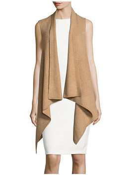 Cashmere Shawl Vest by Lord & Taylor