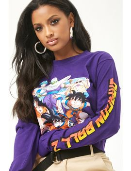 Dragonball Z Graphic Raw Cut Top by Forever 21
