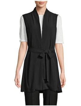 Silk Long Vest by Eileen Fisher