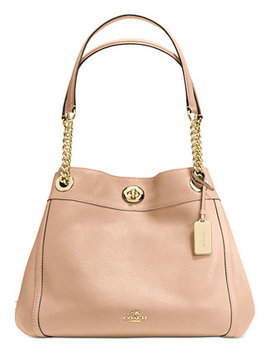 Turnlock Edie Shoulder Bag In Pebble Leather by Coach