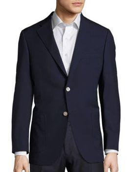 Solid Wool Sportcoat by Samuelsohn