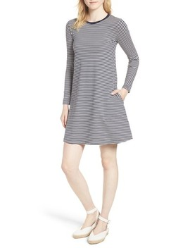 J.Crew Easy Pocket Cotton Knit Stripe Dress by J. Crew