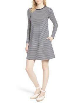 J.Crew Easy Pocket Cotton Knit Stripe Dress by J. Crew