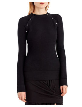 Stud Trim Merino Silk Sweater by Jason Wu