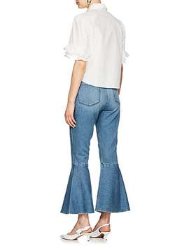 Flounce Side Zip Flared Jeans by Frame