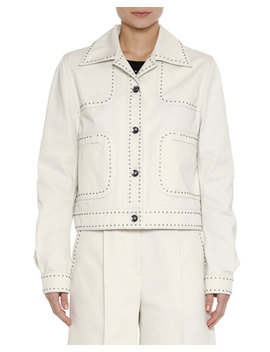 Studded Canvas Jacket by Bottega Veneta