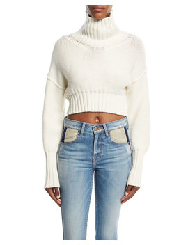 Cropped Knit Turtleneck Sweater by Tre By Natalie Ratabesi