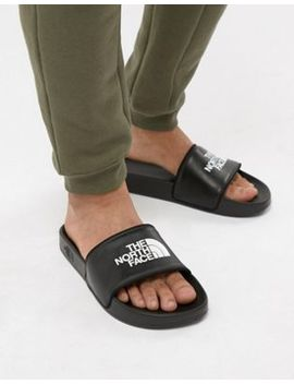 The North Face Base Camp Sliders Ii In Black/White by The North Face
