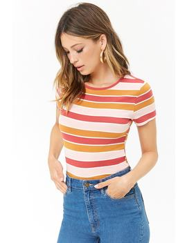 Multi Striped Tee by Forever 21