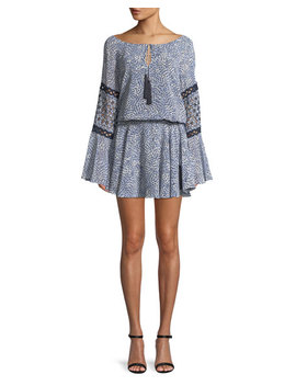 Lanelle Printed Long Sleeve Mini Dress by Alexis