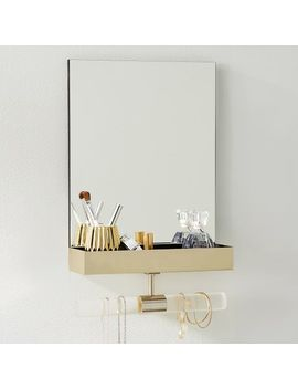 Ava Frosted Acrylic Mirror Jewelry Storage by P Bteen