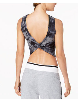 Tie Dyed Twist Back Cropped Tank Top by Calvin Klein Performance