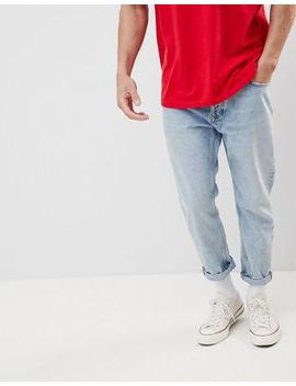 Tommy Jeans 90s Sailing Capsule Cropped Tapered Jeans In Light Wash by Tommy Jeans
