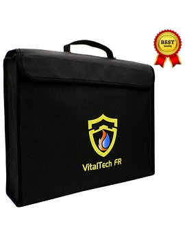 Fireproof Document Bag Safe Waterproof Fire Security Lipo Battery Bag, Coated Fire Resistant Money Bag Fireproof Safe Storage For Money, Documents, Jewelry And Passport by Vital Tech