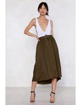 Button It Midi Skirt by Nasty Gal