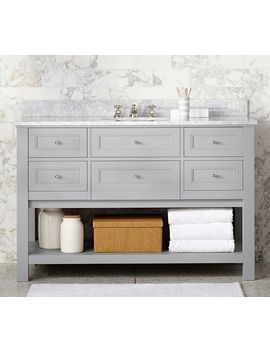 Classic Single Wide Sink Vanity   Gray by Pottery Barn