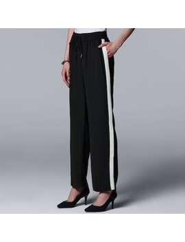Women's Simply Vera Vera Wang Side Stripe Wide Leg Pants by Kohl's