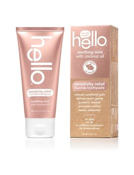 Hello Sensitivity Relief Soothing Mint Fluoride Toothpaste 4.0oz by Hello